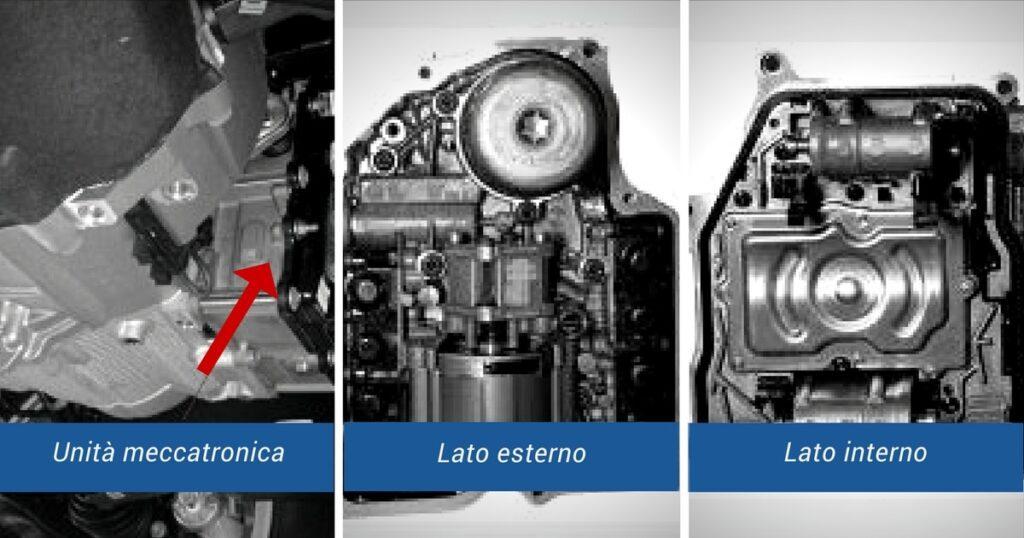 Unità meccatronica lato esterno e lato interno al cambio Additivi BLue