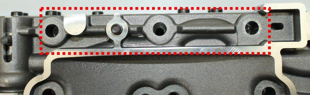 Dettaglio della crepa individuata