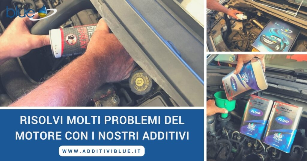 Assistenza per problemi al motore Additivi Blue