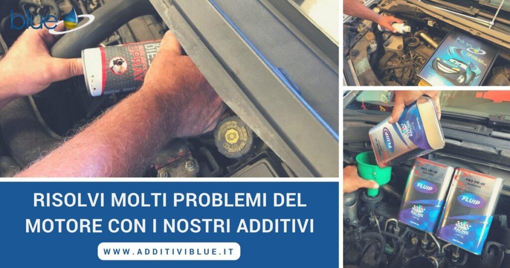 Assistenza per problemi al motore Additivi Blue