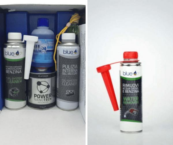Kit tagliando benzina e rimuovi acqua - Additivi Blue