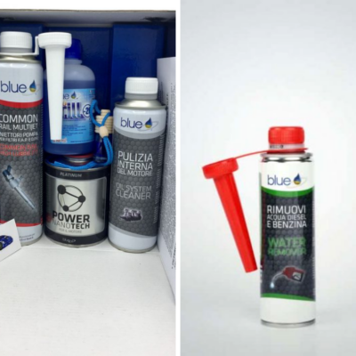 Kit tagliando diesel e rimuovi acqua - Additivi Blue